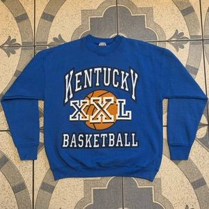 Vintage Kentucky Basketball Spellout Crewneck Sz L